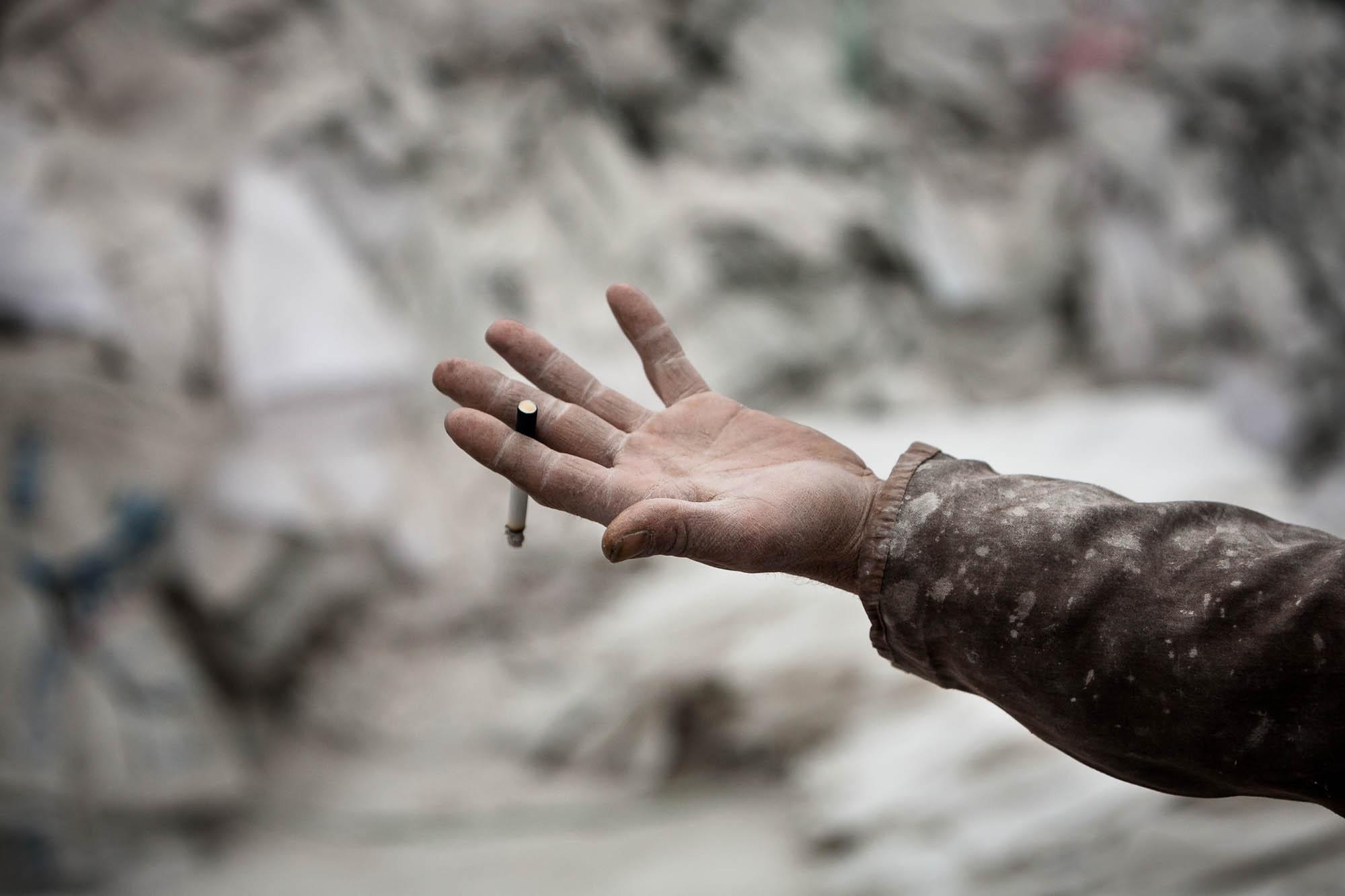 white hand