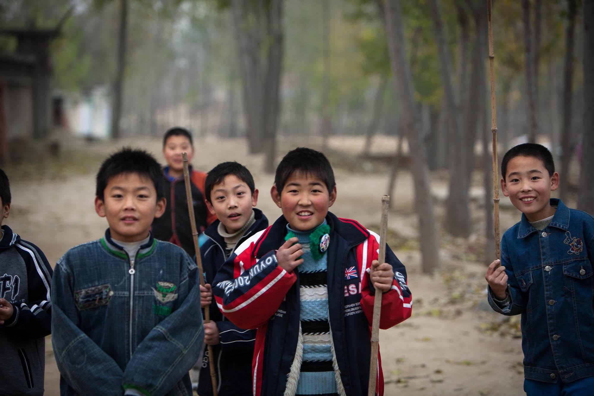 village kids in Hebei