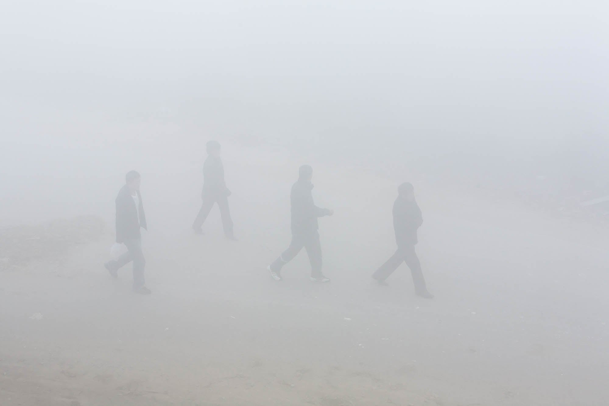 people in the fog