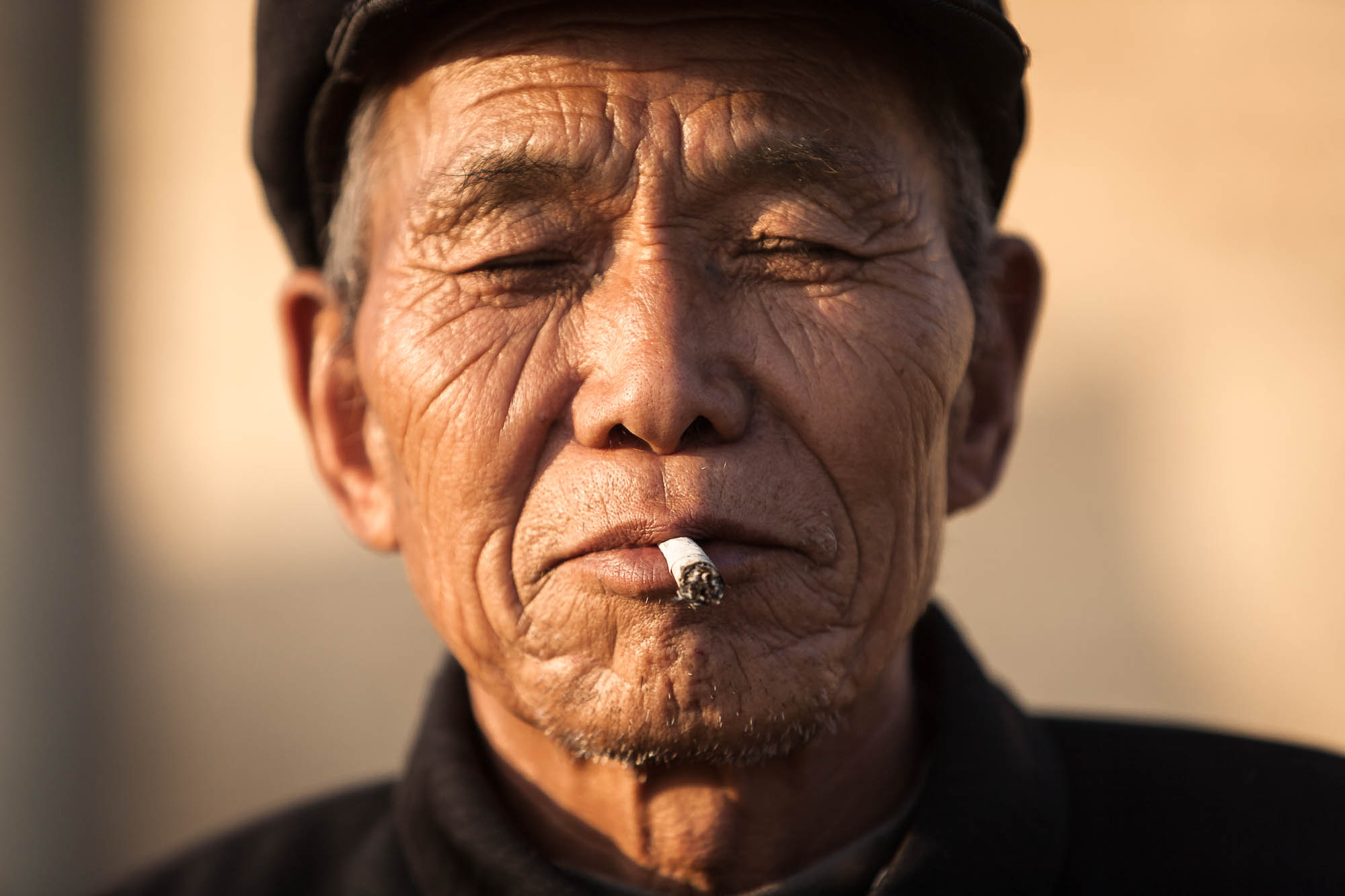 villager with cigarette