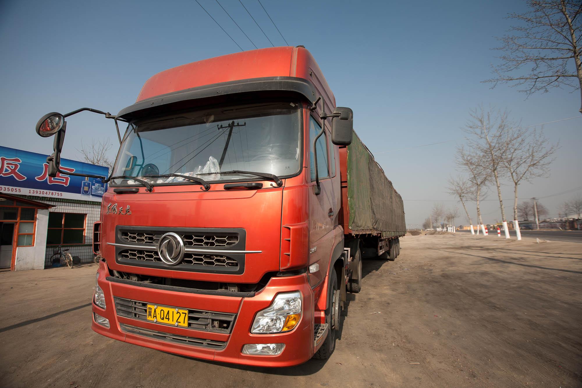 truck near Xinle