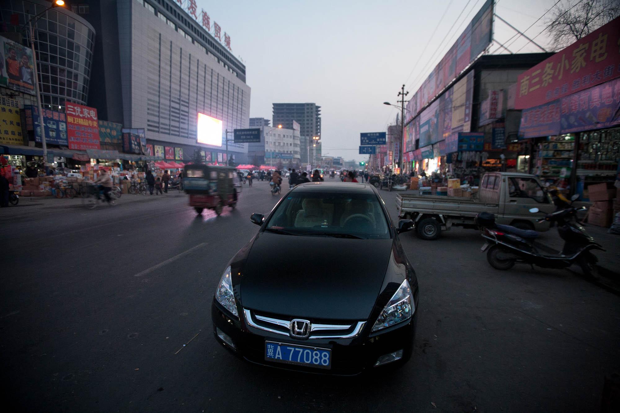 street scene in Shijiazhuang