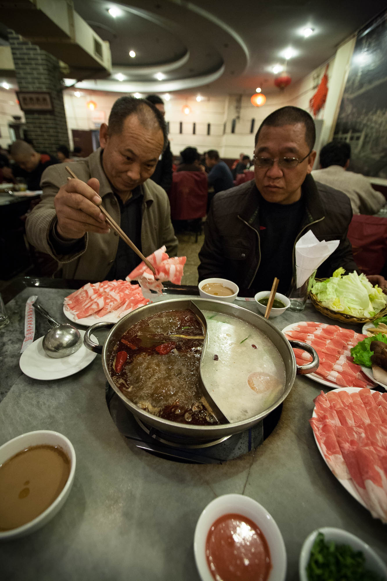 The Yang brothers treated me to hot pot in their own restaurant