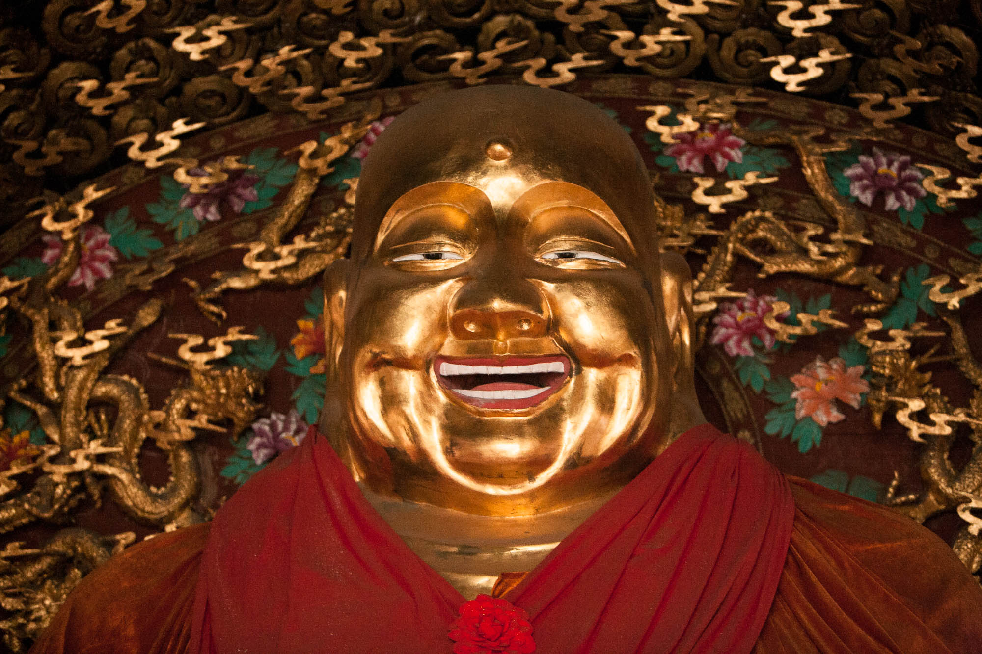 Buddha statue in the White Pagoda of Taigu