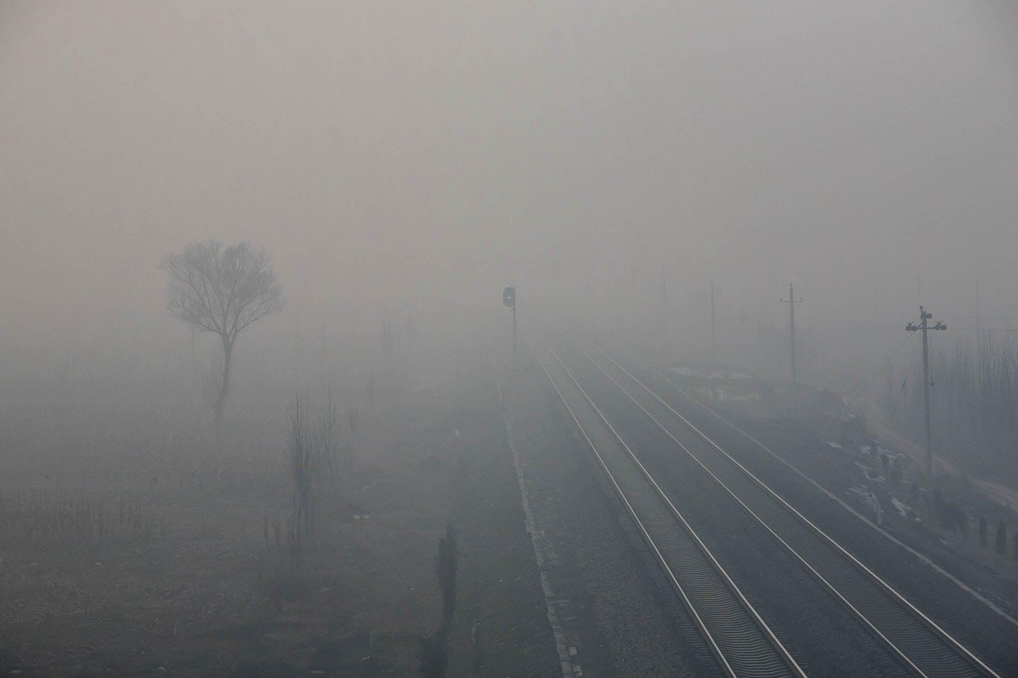 fog near Pingyao