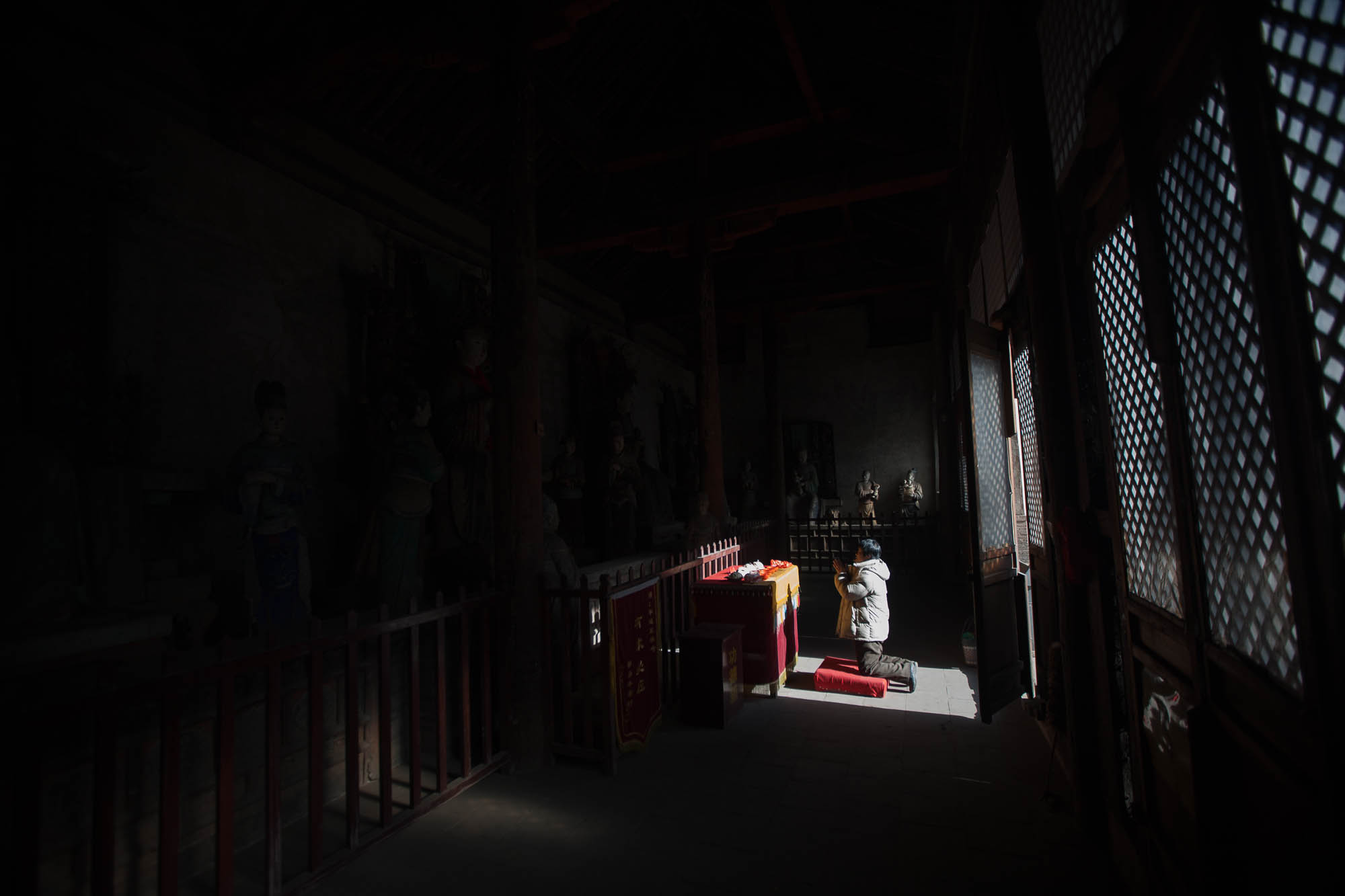 within Shuanglin Temple