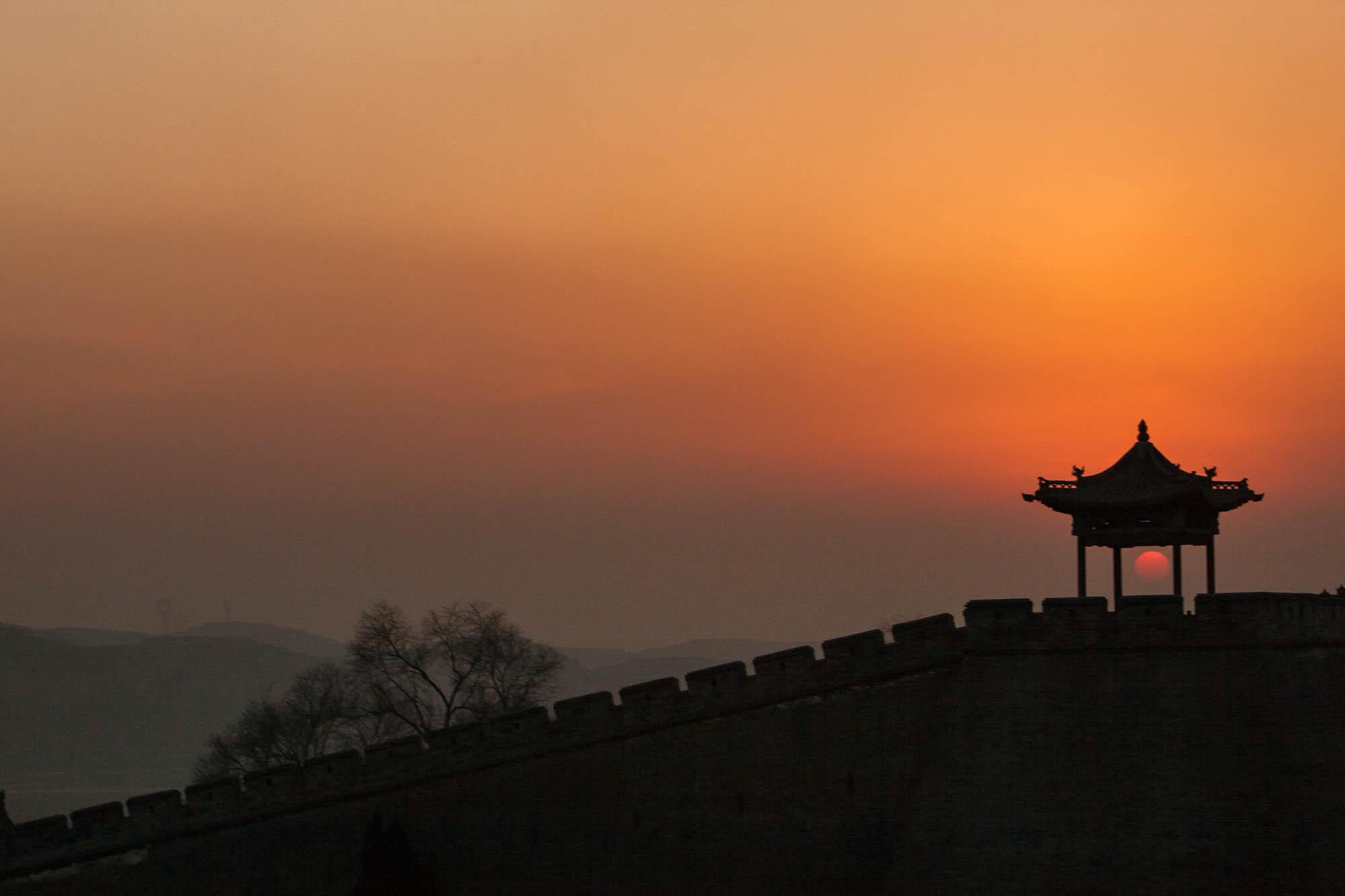 sunset over Wang Family Courtyard