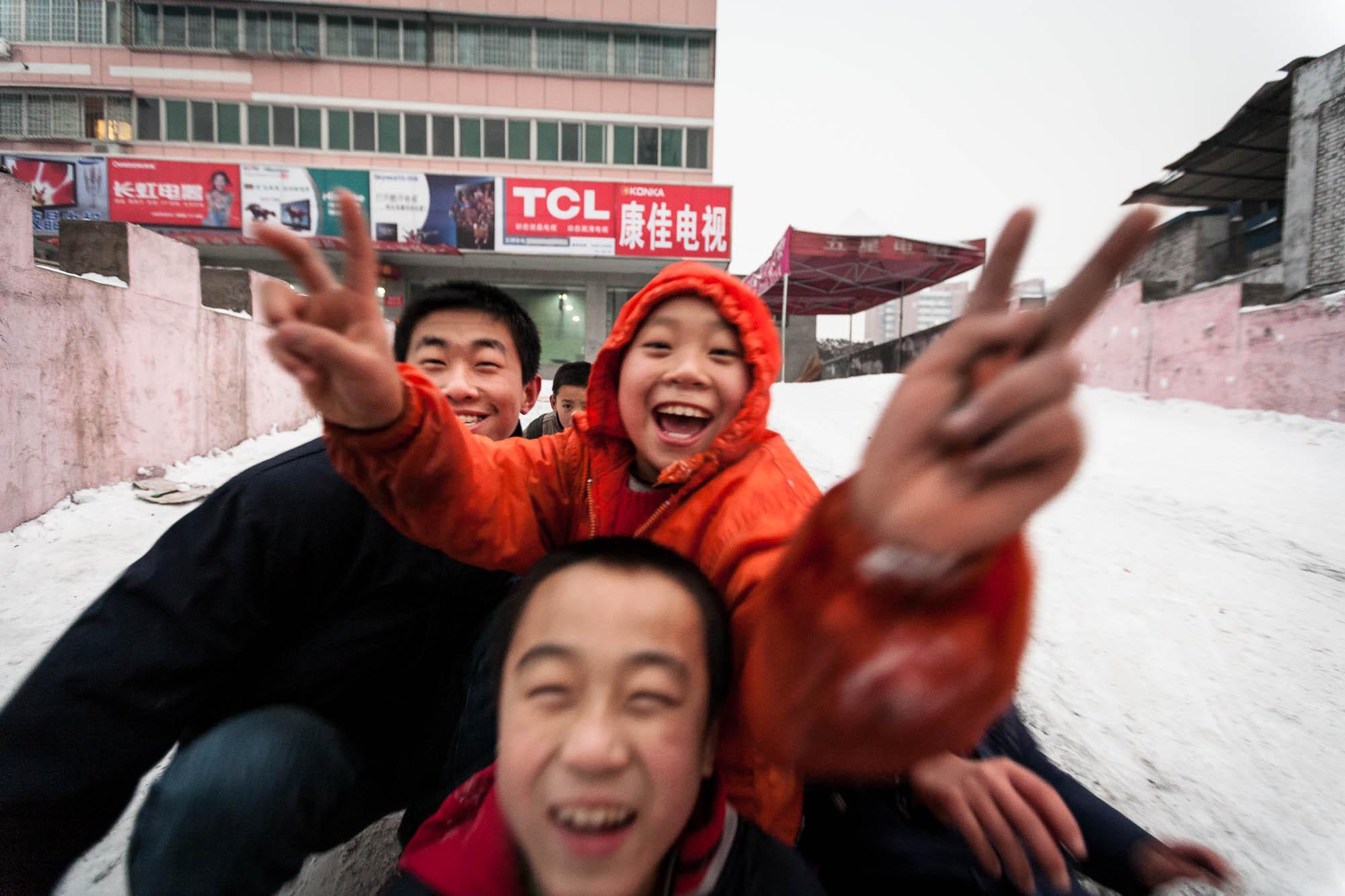 children in Linfen