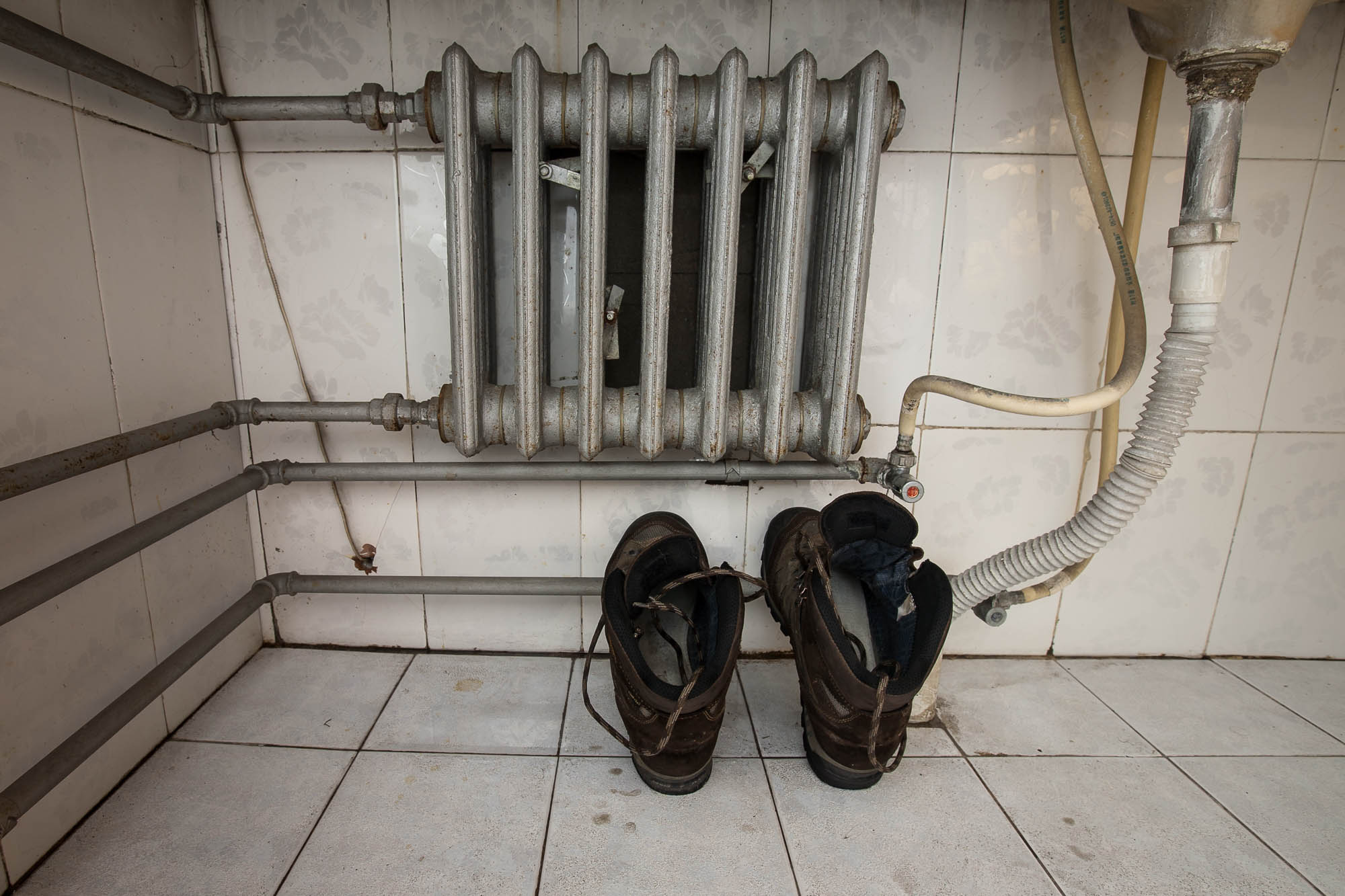 shoes and the radiator