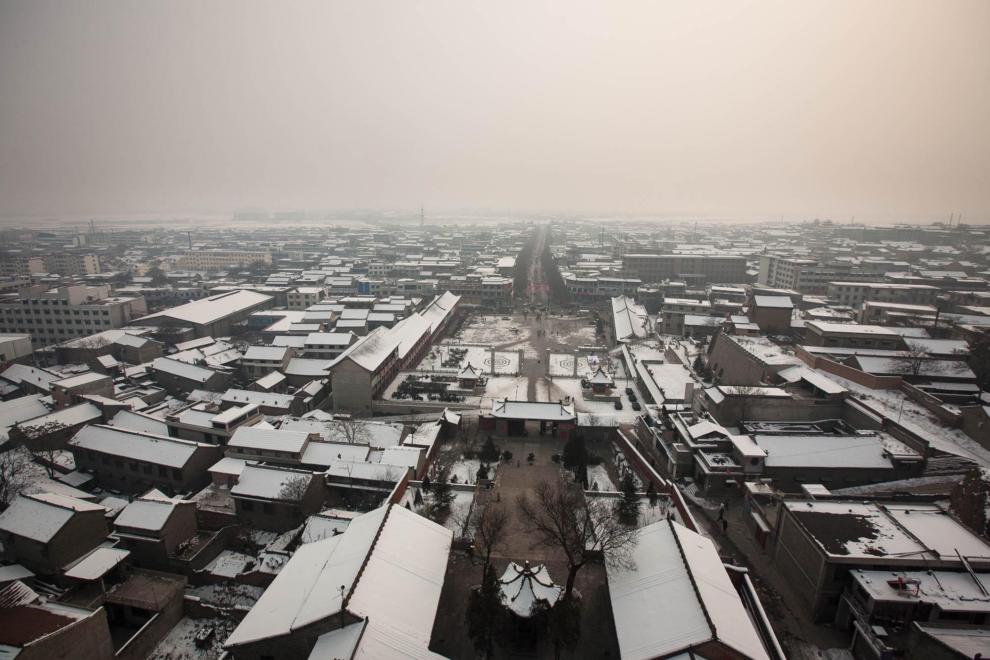 view over Xinjiang