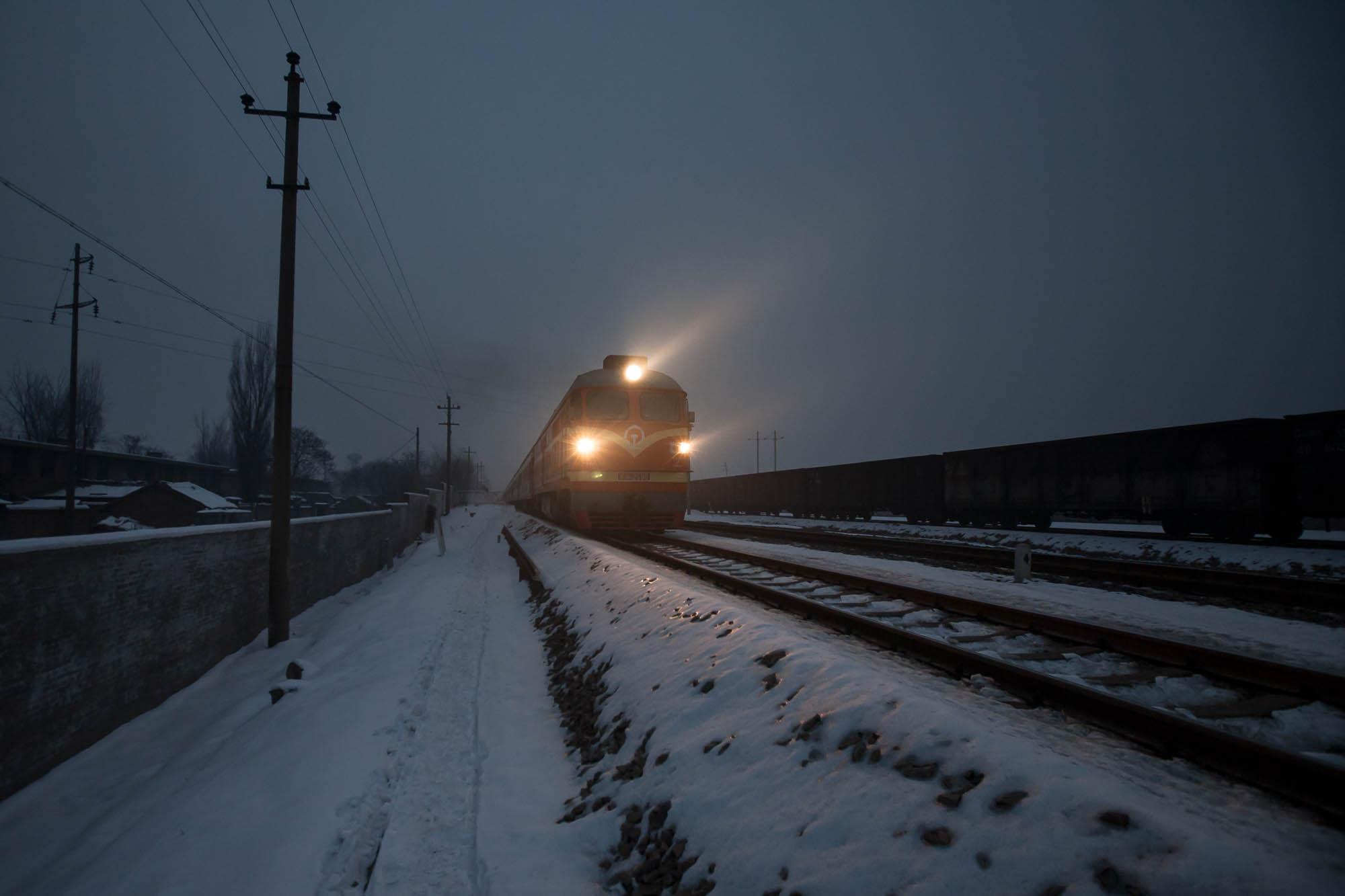 train passing at night