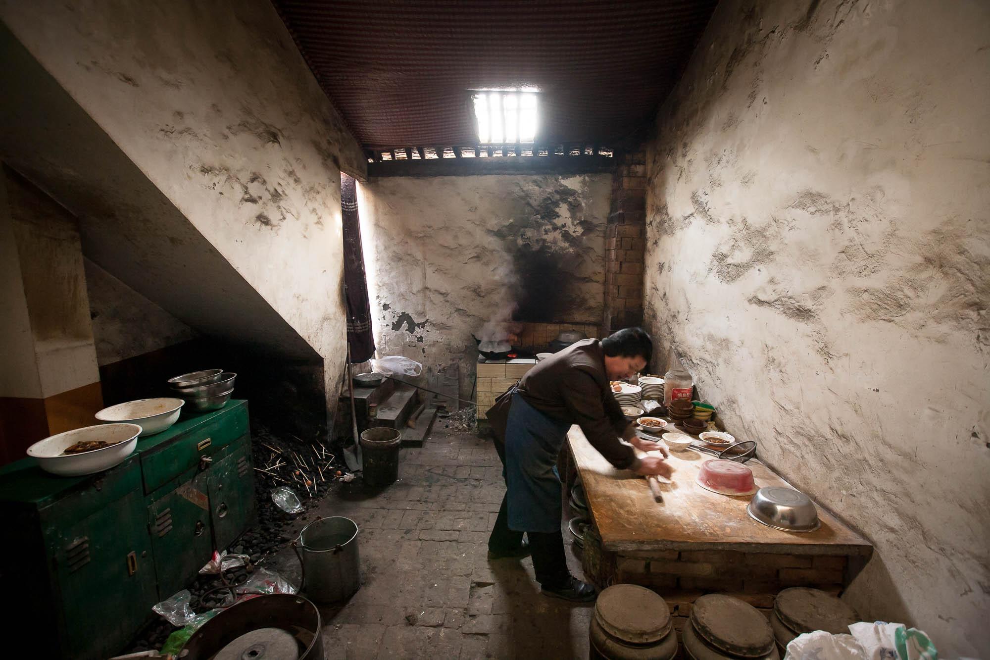 restaurant kitchen in Shanxi