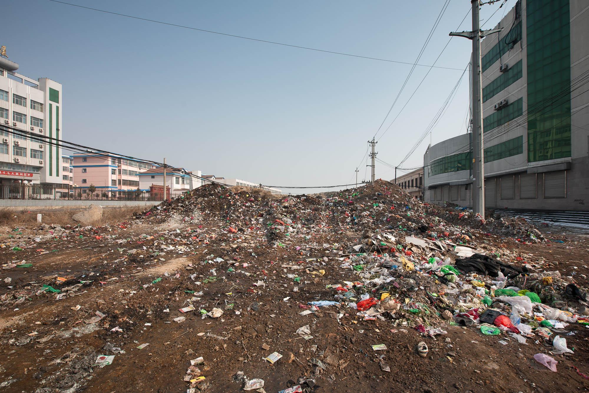 trash in Linyi
