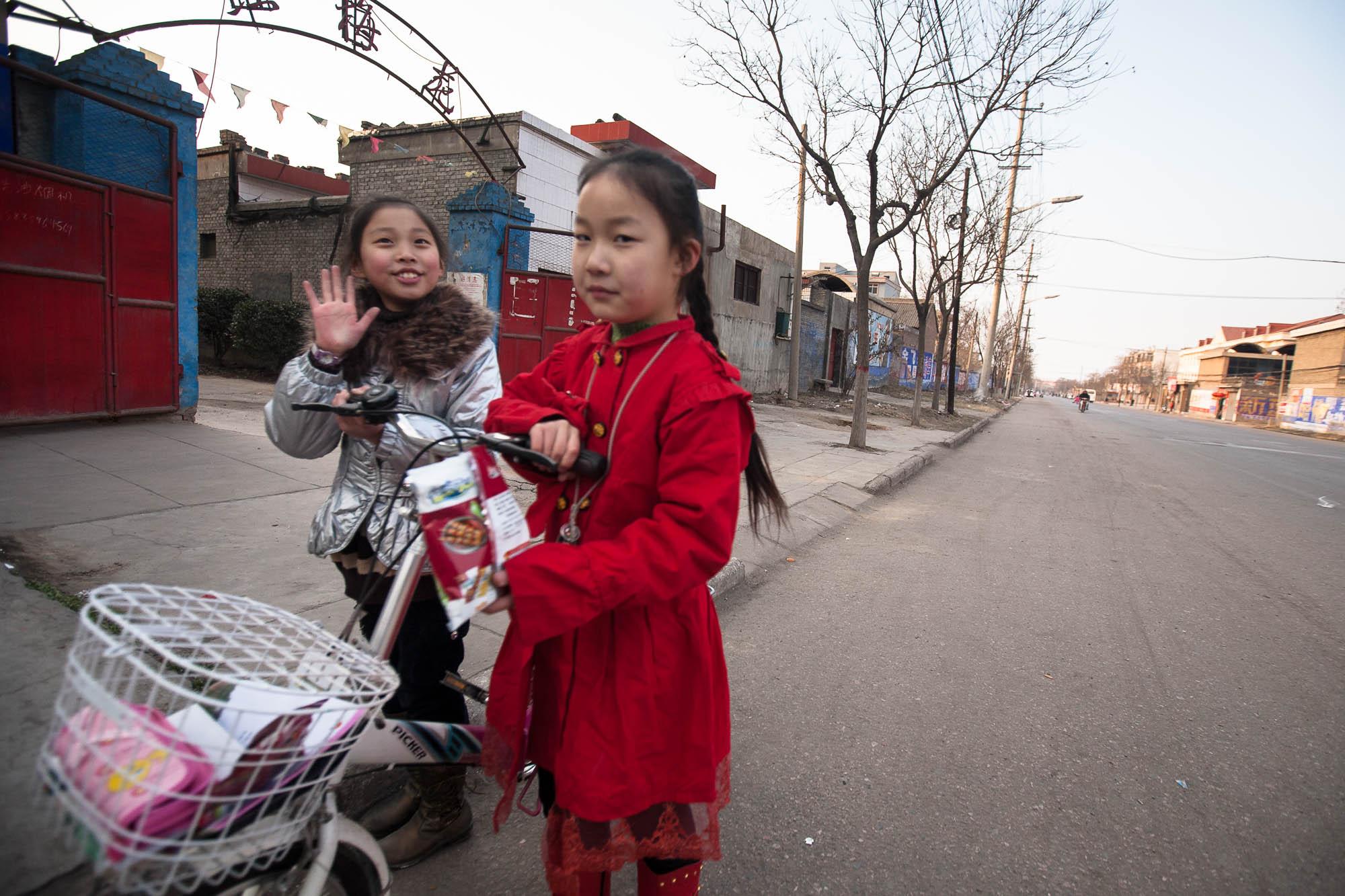 girls with bike