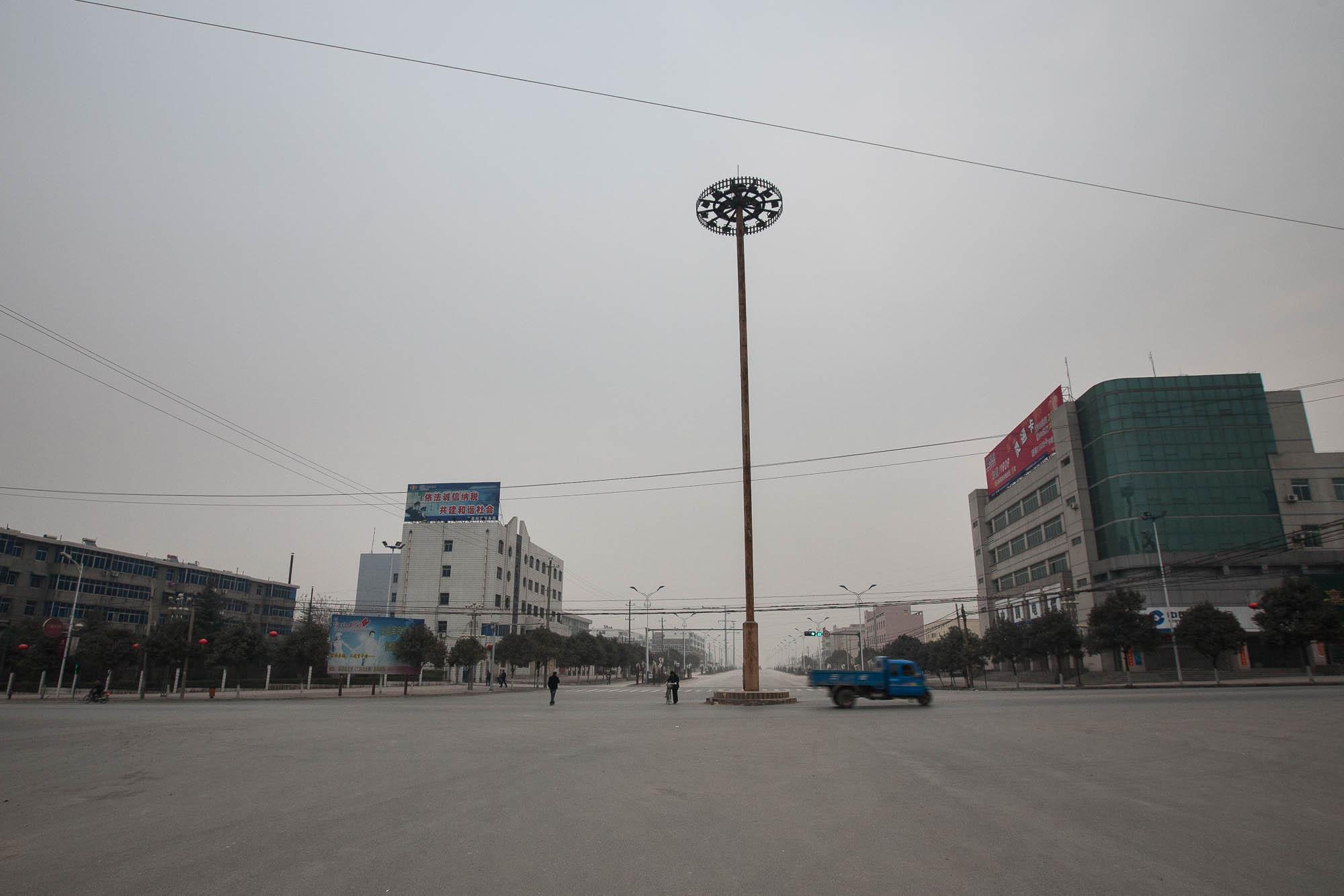 empty streets in Huaxian