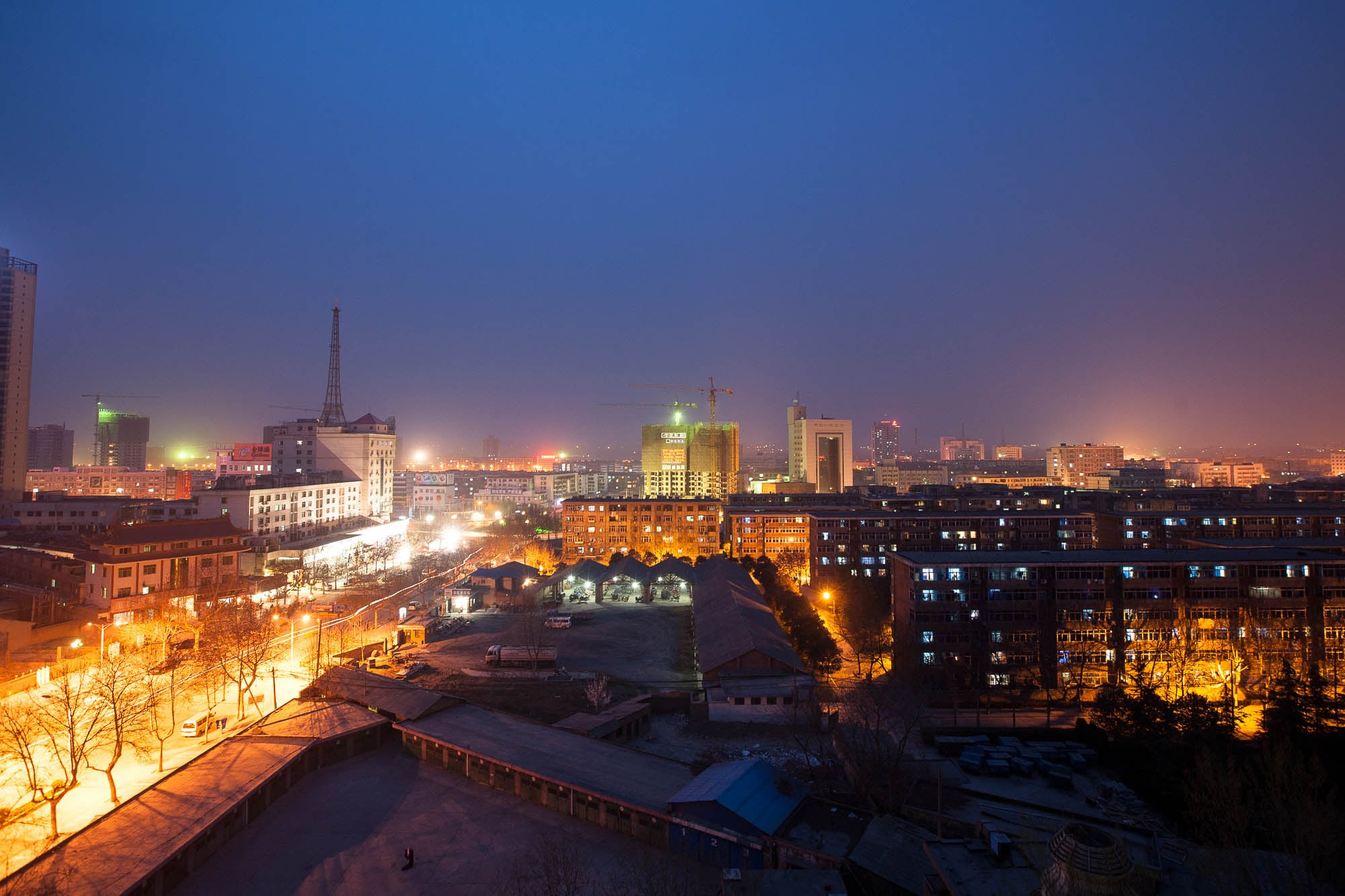 Xianyang at night