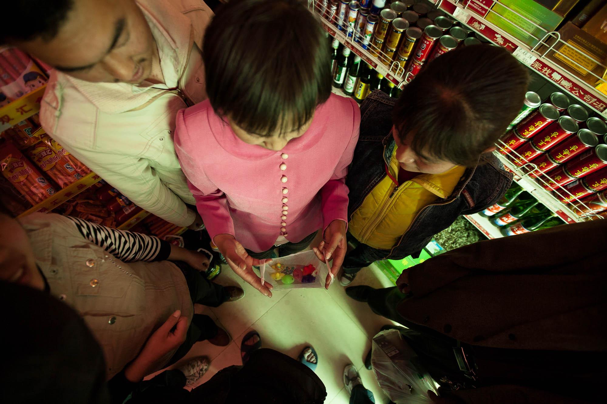 kids in a shop