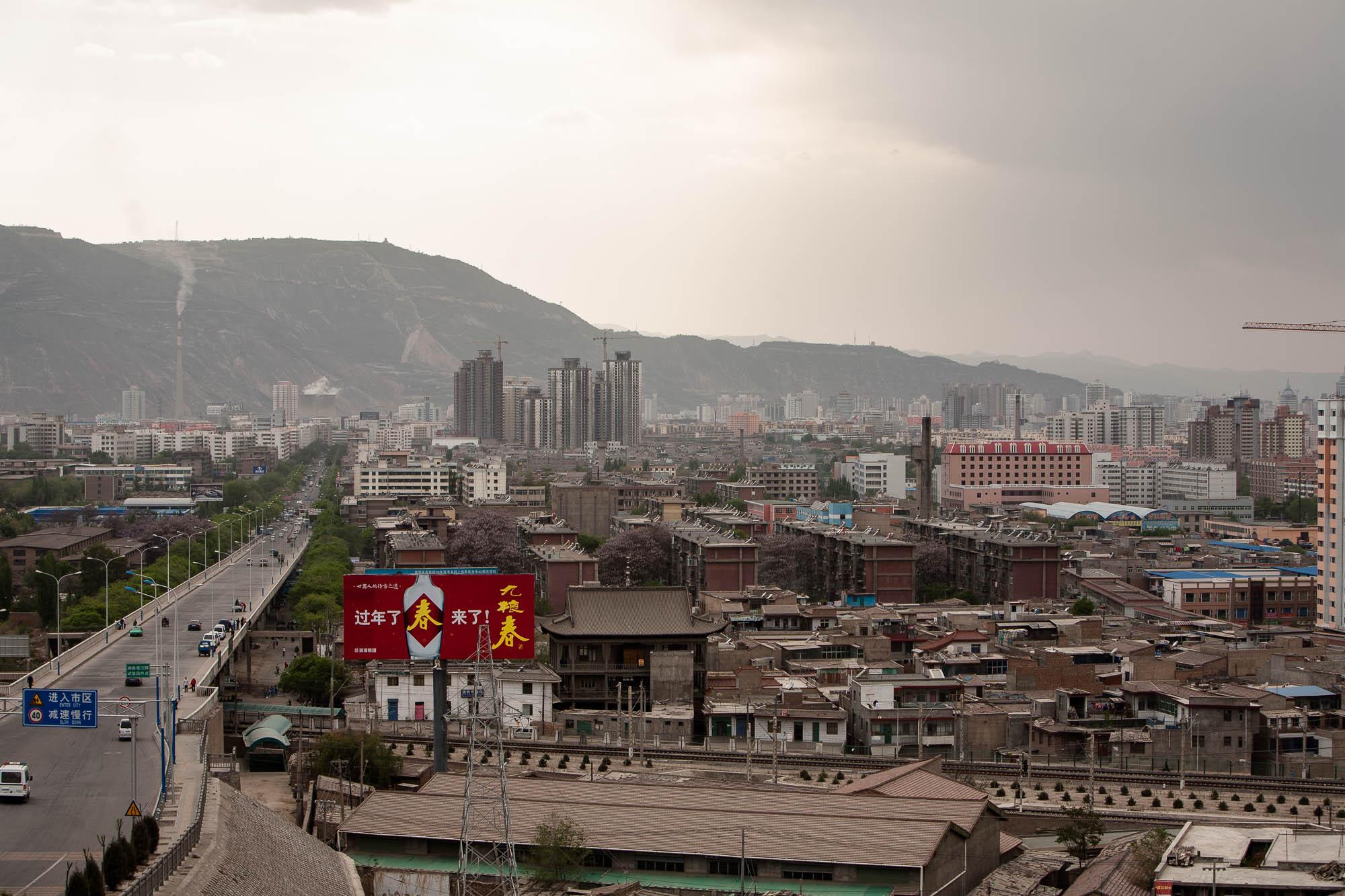 into Lanzhou