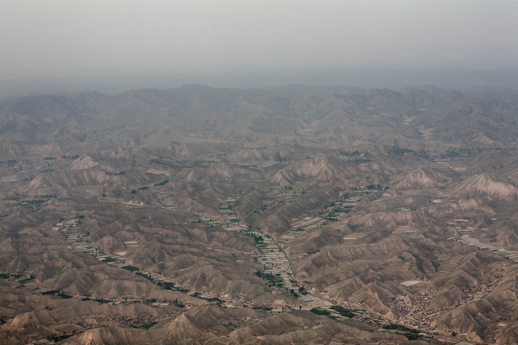 Gansu from above