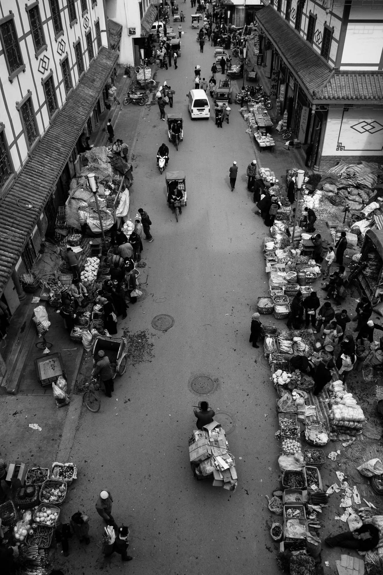 Sichuan 2006 street scene
