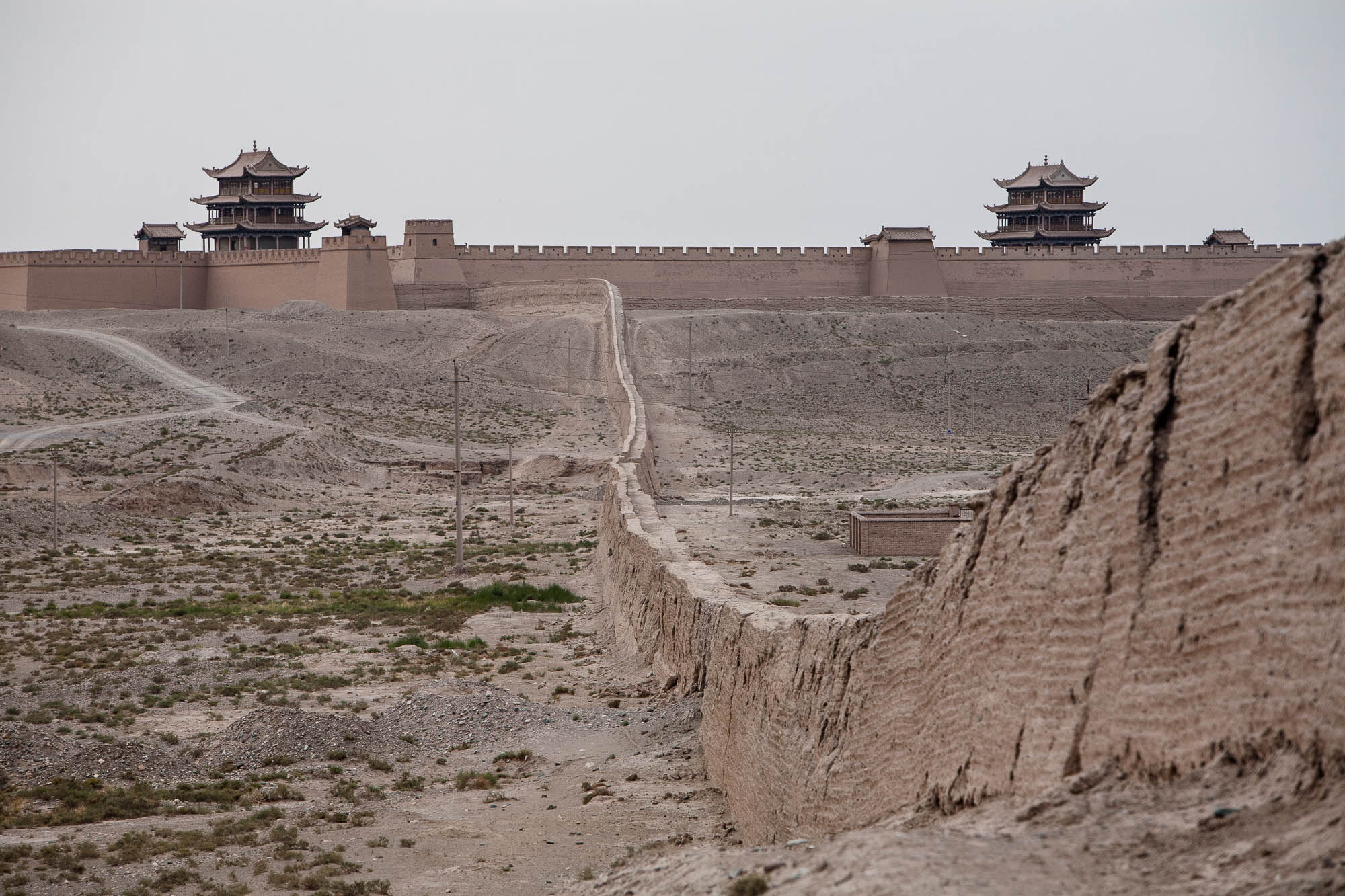 Jiayuguan Fort with Wall