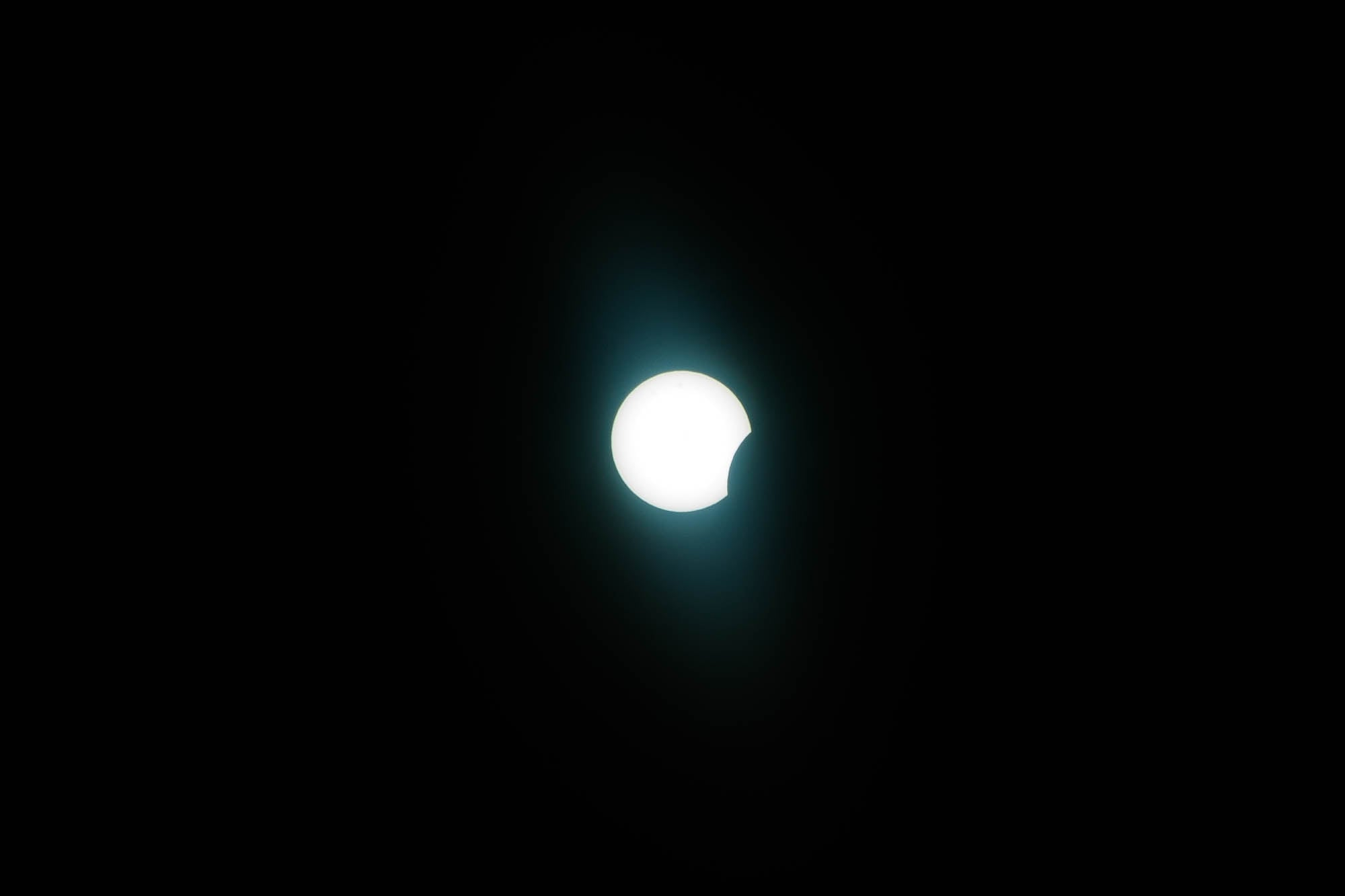 start of the eclipse