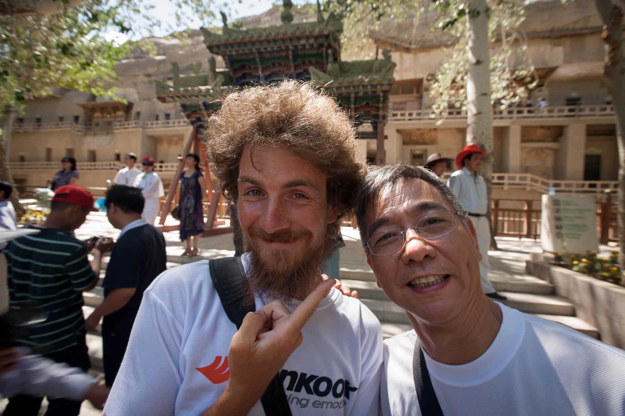 Steven Li came by to see us in Dunhuang