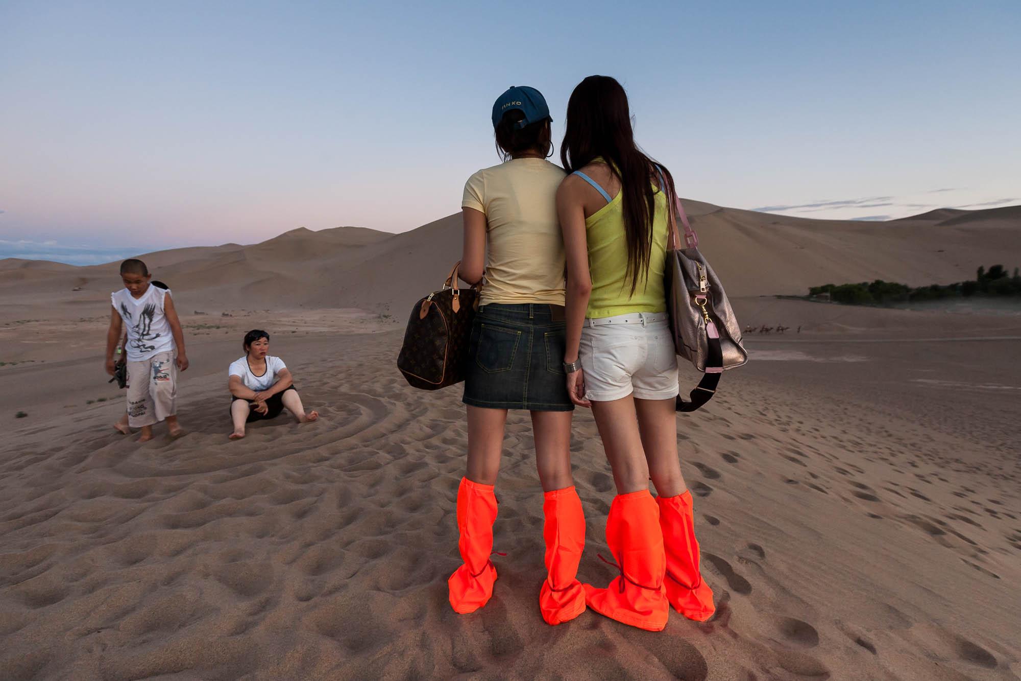 orange boot covers