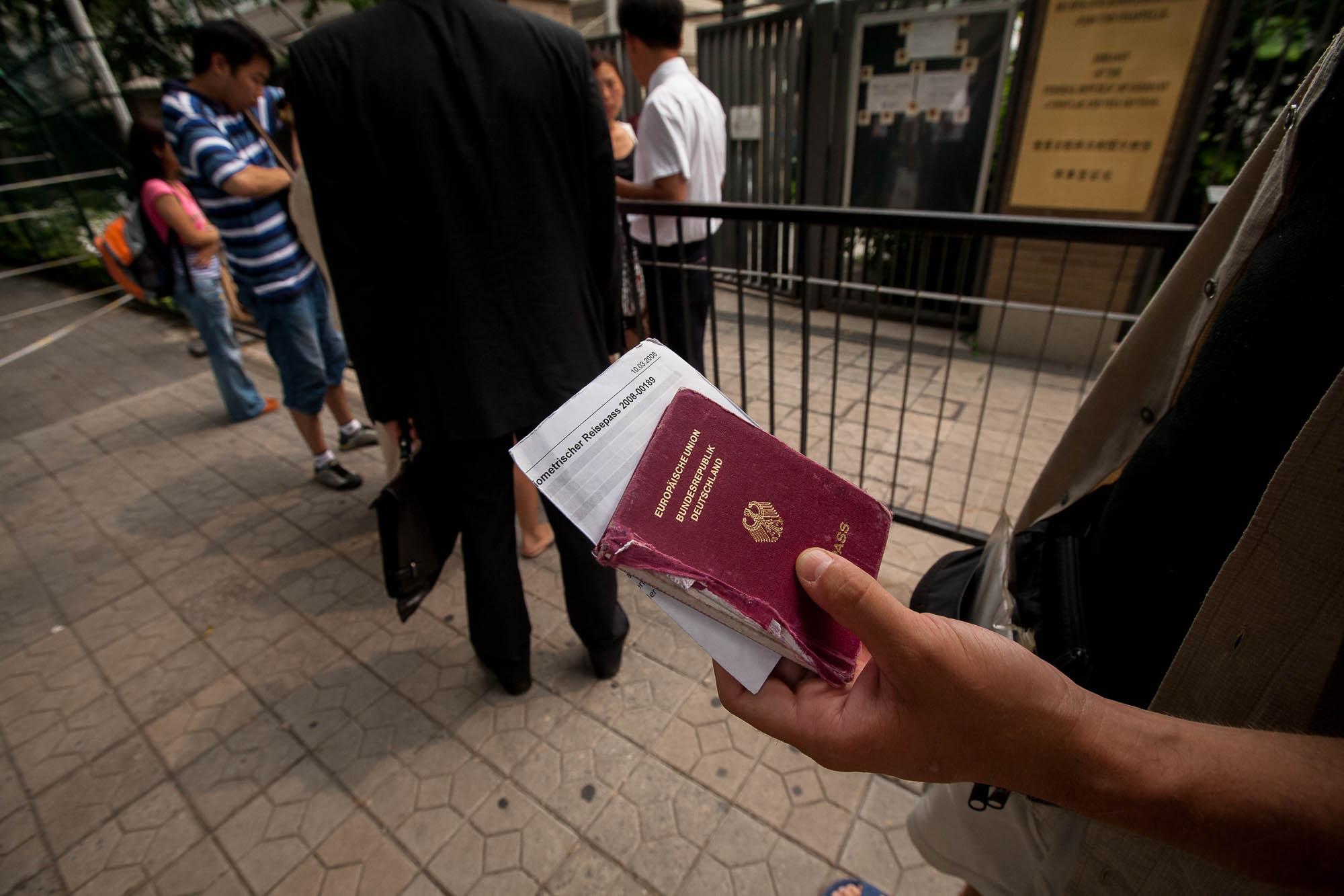 taking my passport to the German embassy