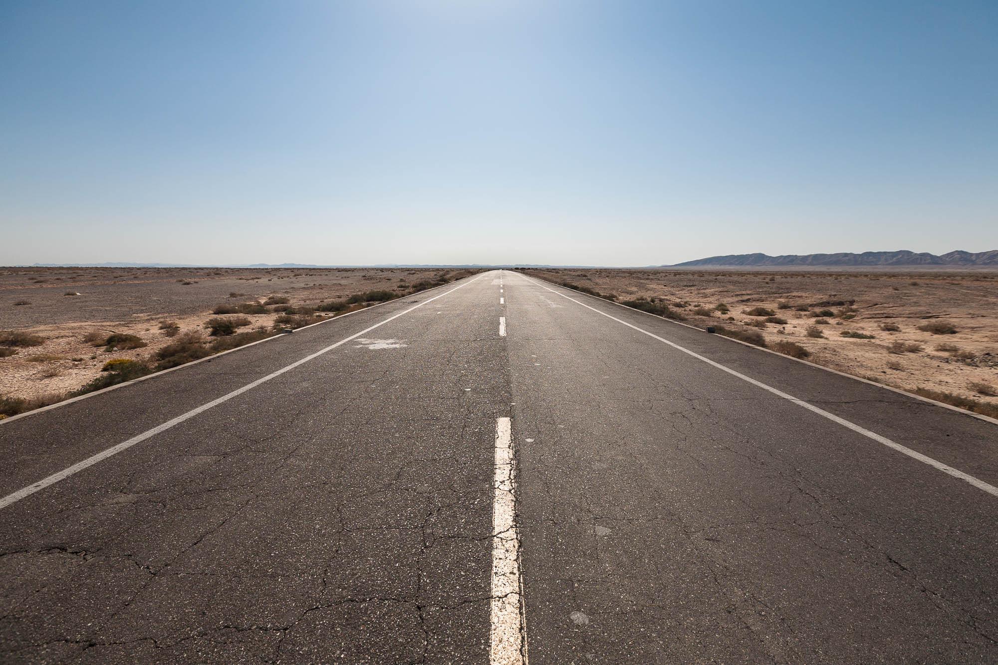 desert road in the Gobi