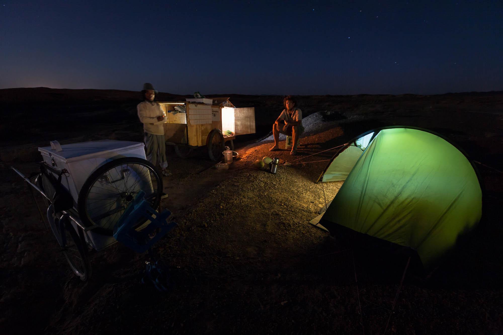 camp with Teacher Xie