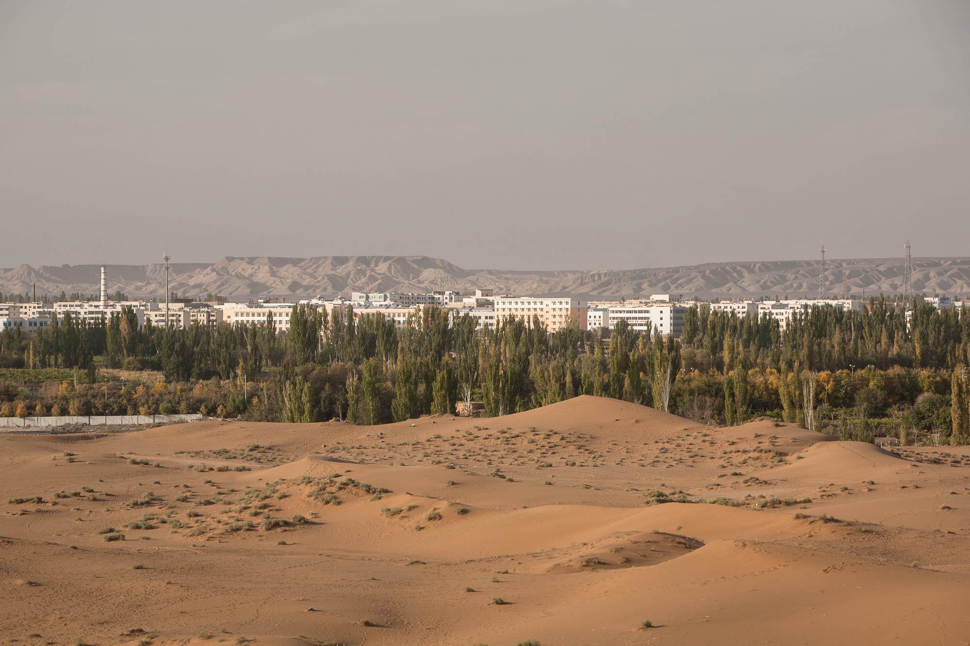 Shanshan and the desert