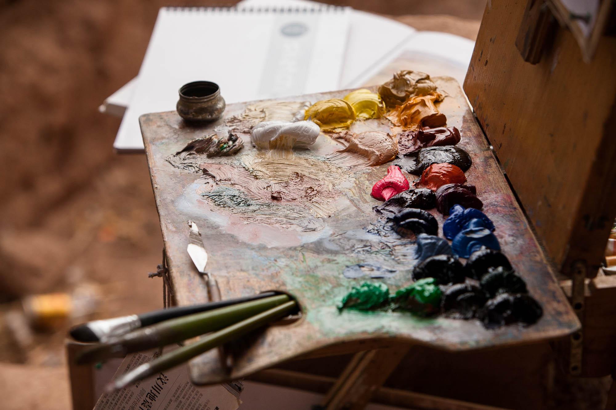 the artist's stuff