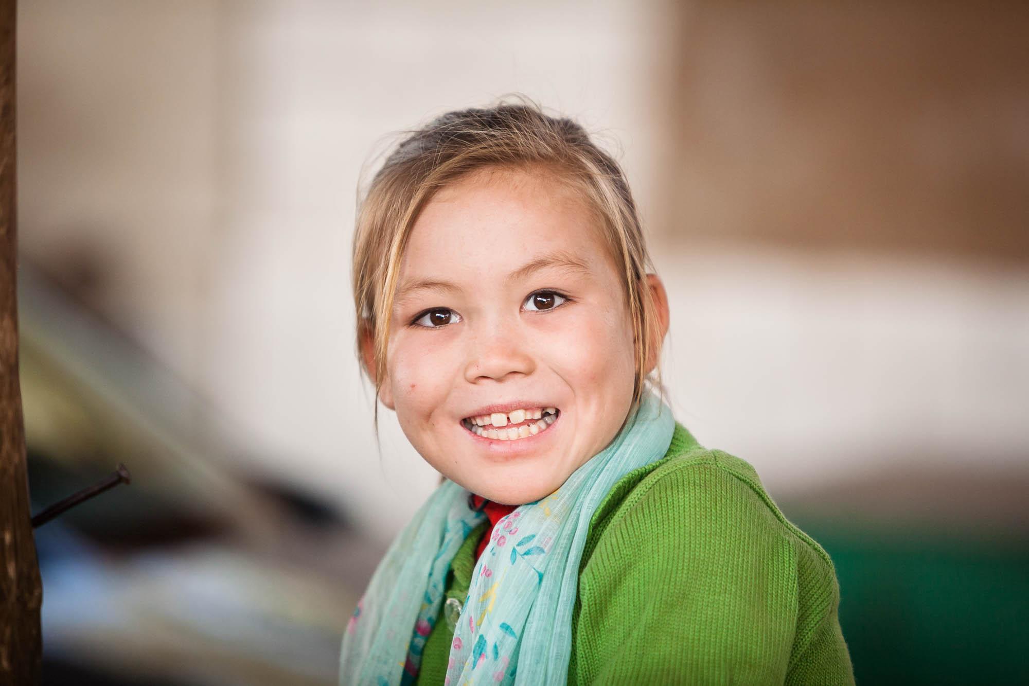 blonde Uyghur girl