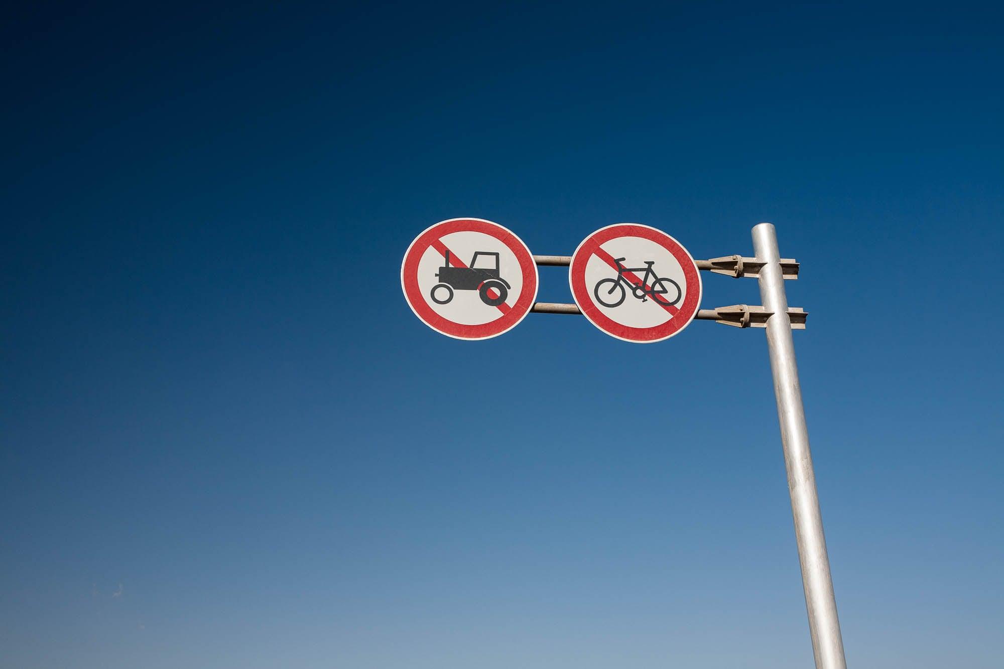 no tractors no bikes