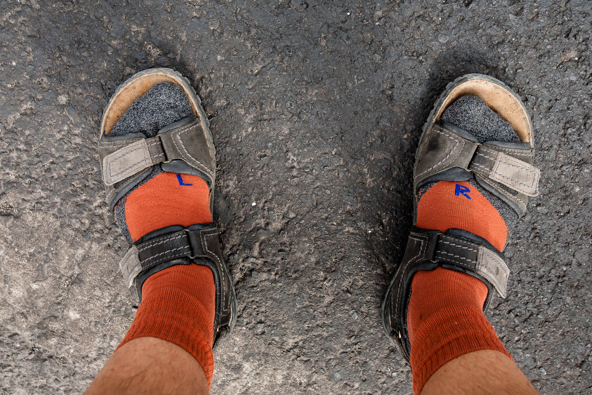 German style sandals with socks