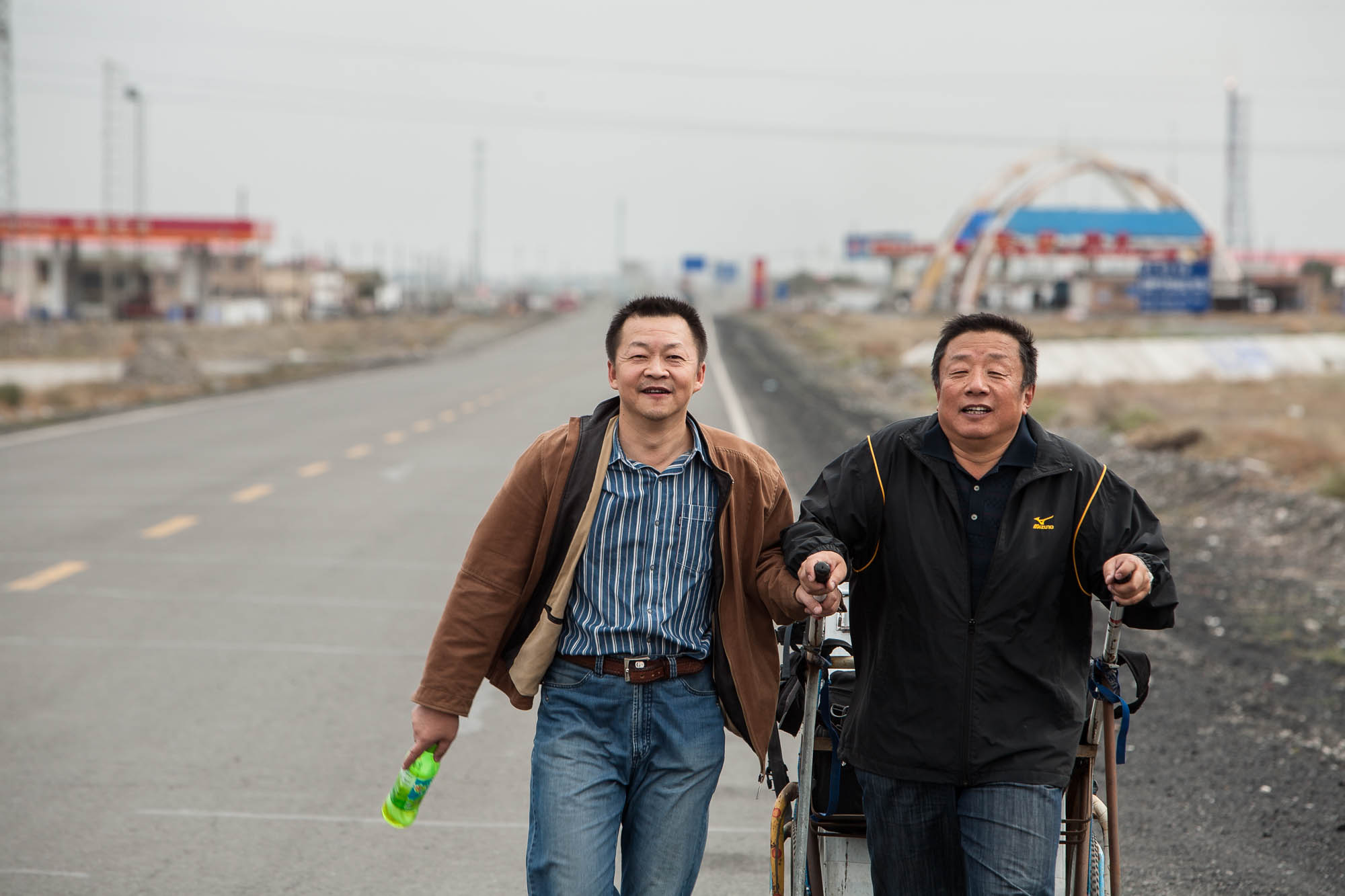 Brother Li and Brother Ma walked with me from Kuytun almost all the way to Wusu