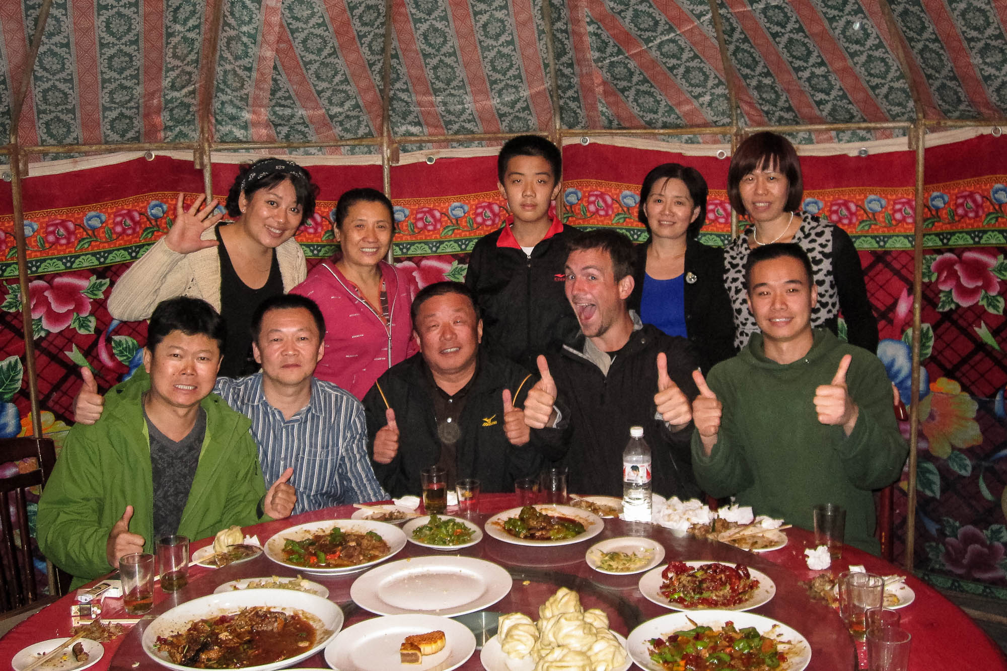 Some of the good people of Kuytun invited me to dinner