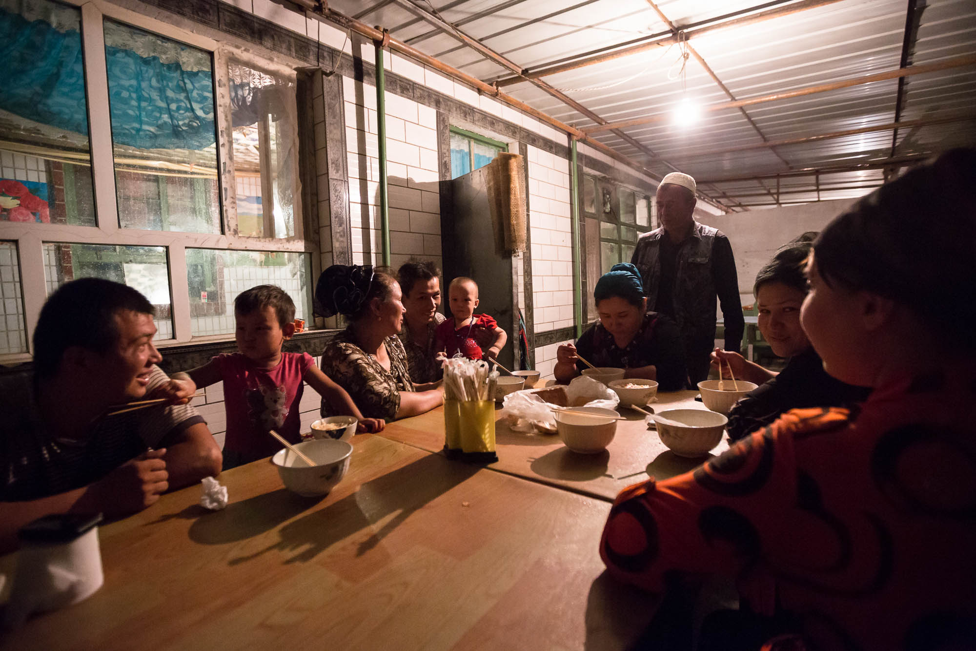 This Uyghur family gave me shelter for the night