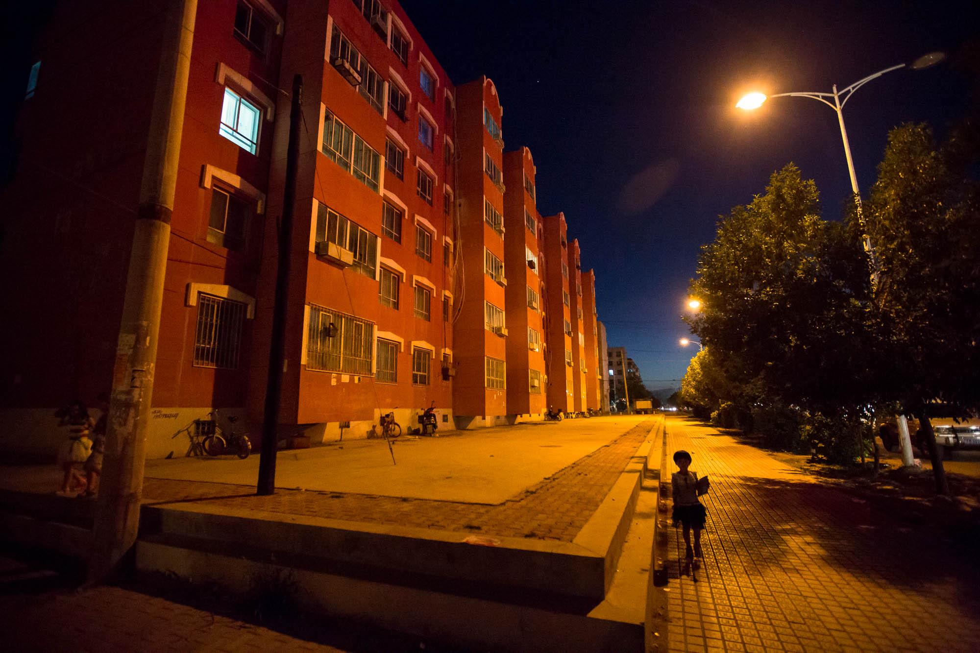 nightly street in Shashanzi