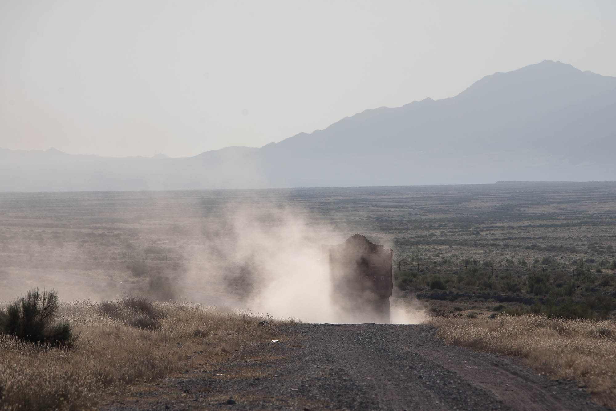 truck in the dust