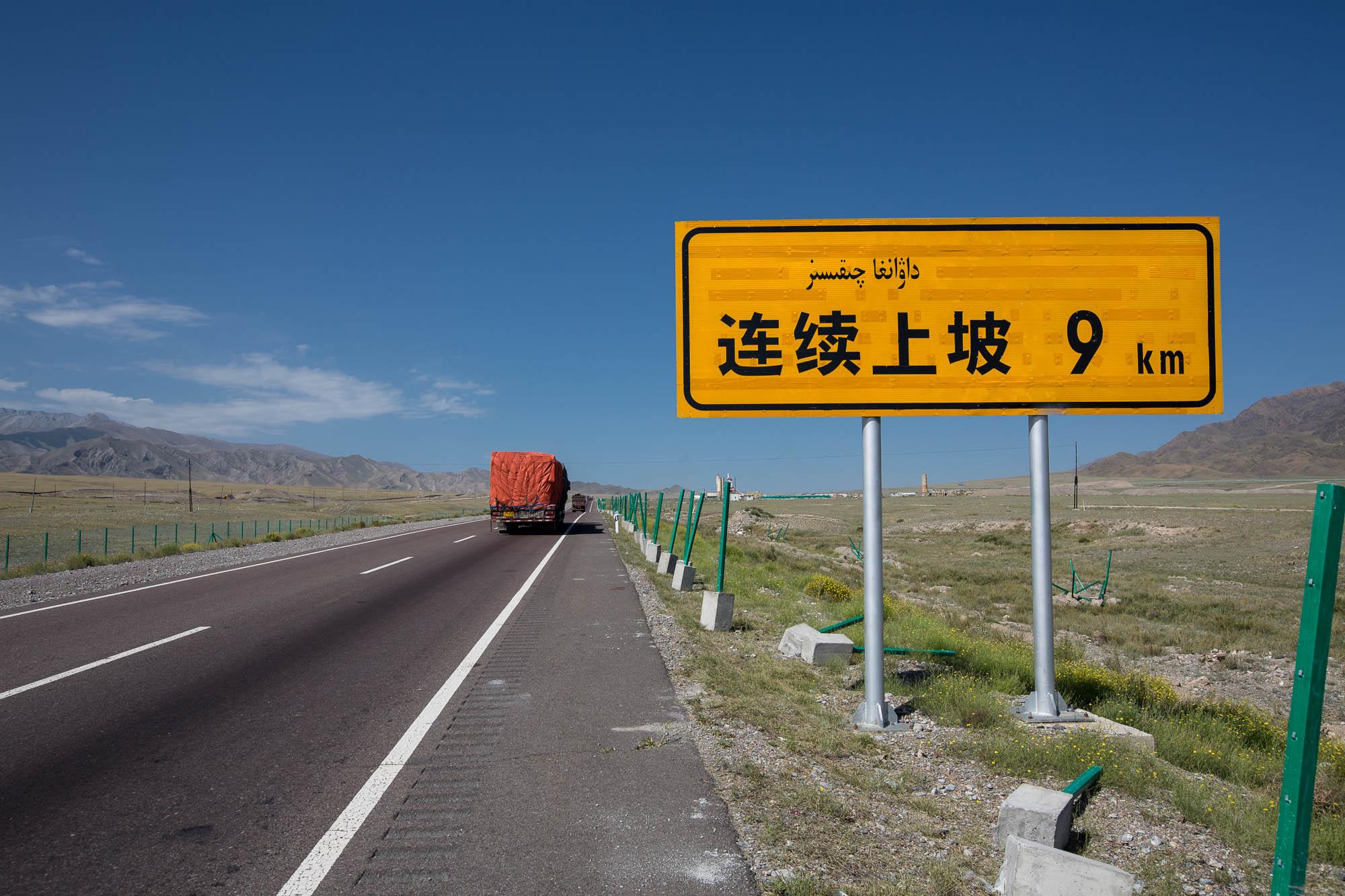 9km uphill