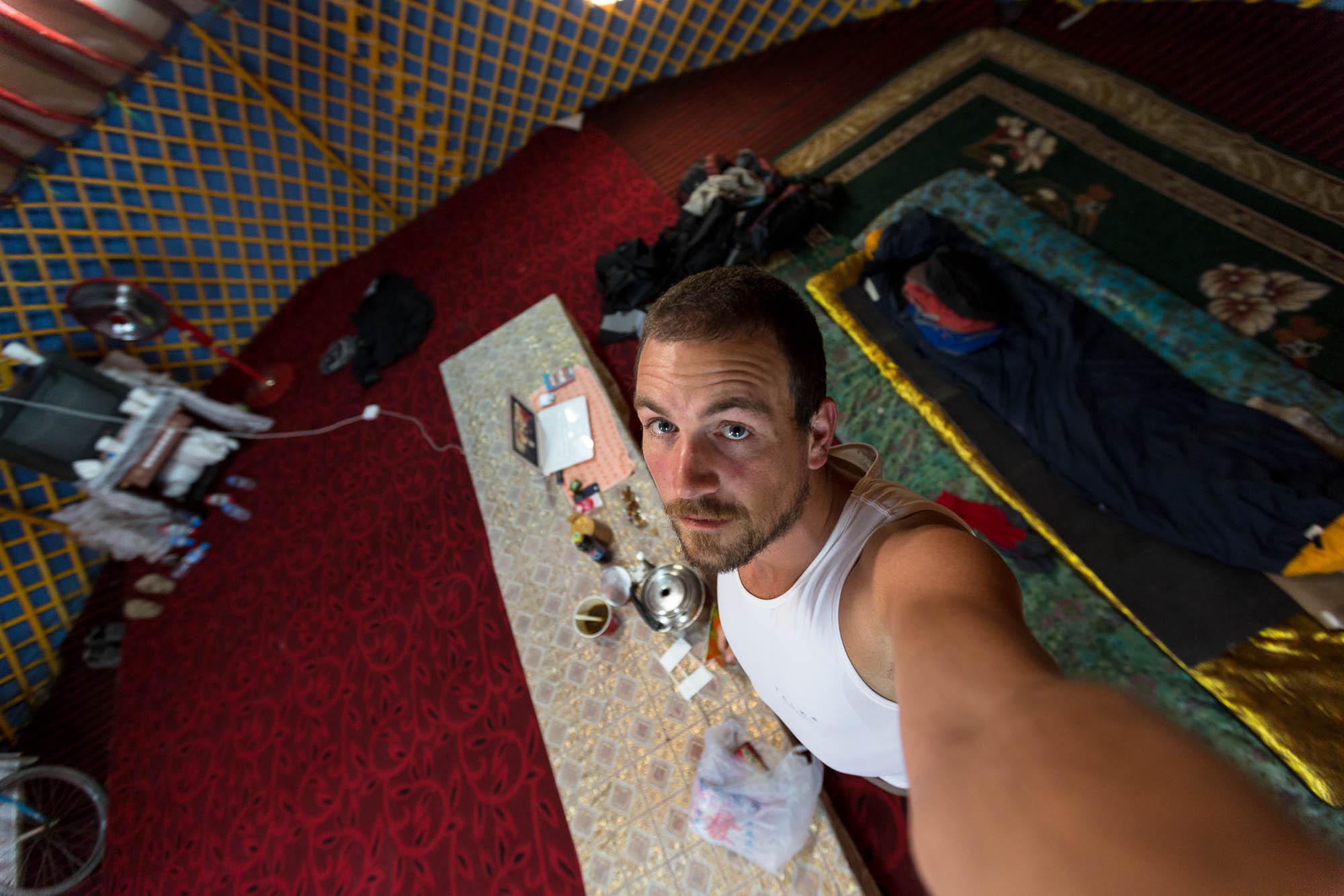 in my yurt