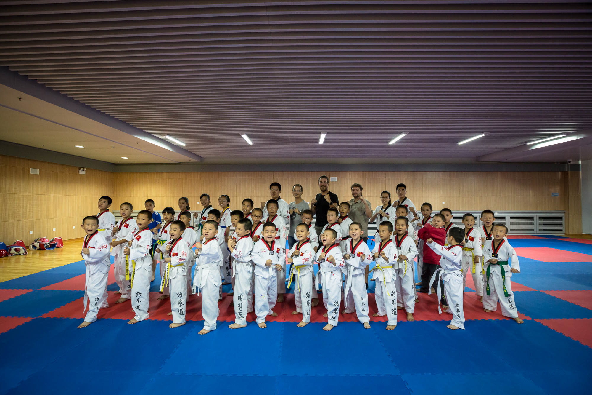 Lei Sheng's Taekwondo club bid us welcome