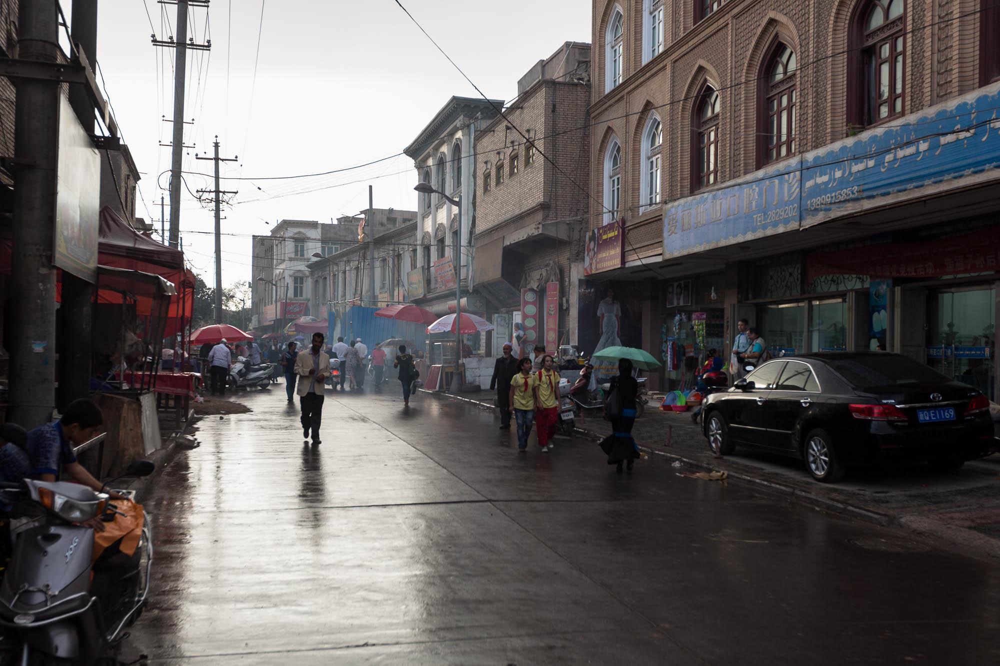 rainy Kashgar