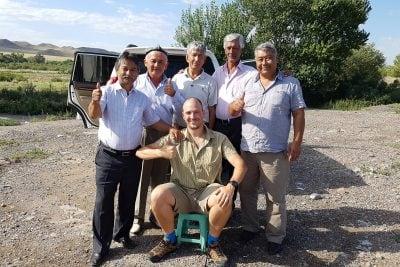 These Uyghur gentleman gave me food and drink on August 8th, 201