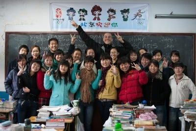 This English class in Dingzhou took me in on November 26th, 2007