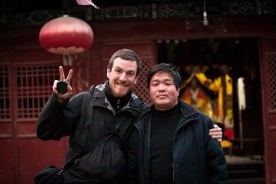 Mr. Li showed me around his temple on February 13th, 2008