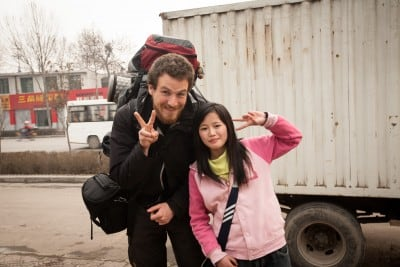 This student walked with me for half an hour on the way to her school on March 6th, 2008