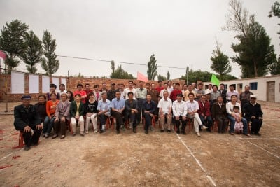 The villagers of Taipingpu invited me to attend an official building construction ceremony on June 19th, 2008